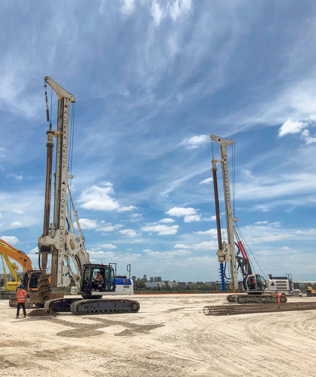 alorra group, piling rig, eastern creek data centre, piling contractor, piling contractors sydney,